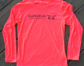 Minerva Muses Running Club Long Sleeve | Coral