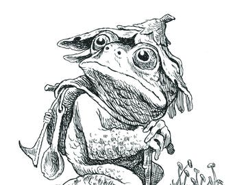 "5 x 7"" Hand-Signed Print on Card Stock: Roger Ribbit"