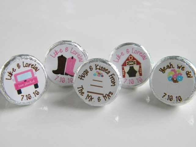 Wedding Favors Personalized Barn Wedding Hershey Kisses Wedding