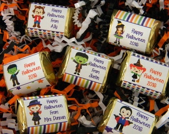 Halloween Hershey Nugget Stickers - Personalized Halloween Favors - Halloween Party Favors - Halloween Nuggets - Halloween Party Decor