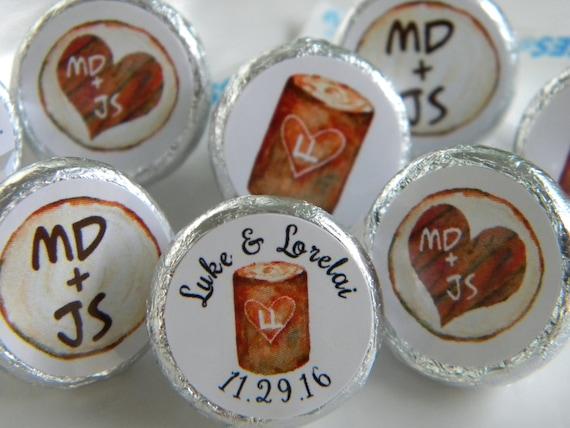Hershey Kiss Stickers Wedding Wedding Favors Fall Wedding | Etsy