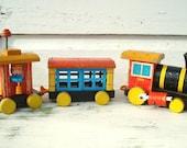 Vintage Wooden Train - Fisher Price Wood Train - Retro Toys