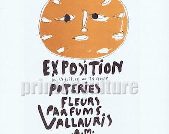 Pablo PICASSO Exposition Poteries Fleurs Parfums Vallauris 1948 - Lithograph poster by Mourlot - Paris.