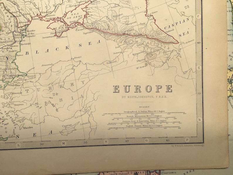 EUROPE, Antique Map C1850S