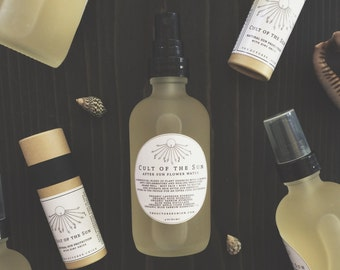 CULT Of THE SUN: After Sun Flower Water - Organic. Sunburn Relief Care. Skin Soothing Mist. Healing Hydrosols. Oil Alcohol + Gel Free.