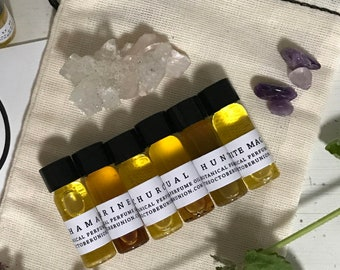 BOTANICAL PERFUME SAMPLES - Organic. Wildcrafted. Essential Oils, Resins + co2 Extracts. Beewax. Subtle. Special. Unique. Magical Blends.