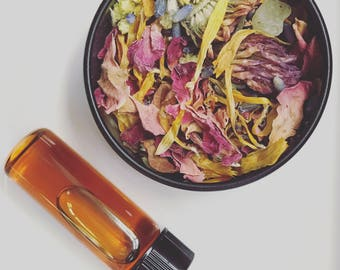 HERBAL STEAM - Facial Steam. Gentle. Deep Pore Cleansing. All Organic Flowers, Leaves, Herbs and Roots. Hair Rinse. Self Care.