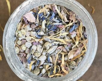 RITUAL BATH - High Vibes Bath Soak. All Organic Flowers. Herbs. Spices. Dead Sea Salt. Himalayan Pink Salt. Moon Time. Detox. Self Care.