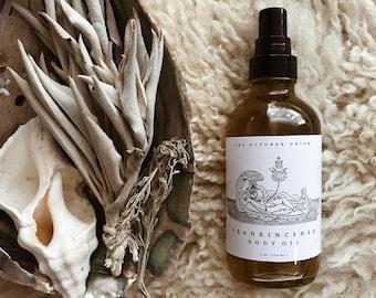 FRANKINCENSE BODY OIL - Organic. Cold-Pressed Pure Plant Oils. Healing. Frankincense - Turmeric CO2 - Bergamot.