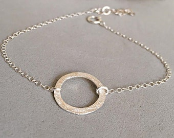 Circle Bracelet For Bride, Wedding Bracelet Women, Wedding Jewelry For Brides, Silver Bracelet For Women, Bridal Jewelry Bracelet Silver 925