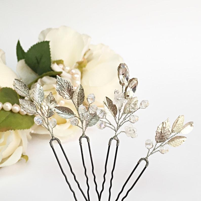 Wedding Headpiece For Bride Wedding Hair Pins Leaf Hair Pin Bridal Hair Pins Gold Hair Pins For Bride Hair Jewelry Leaf Bridal Hair Piece