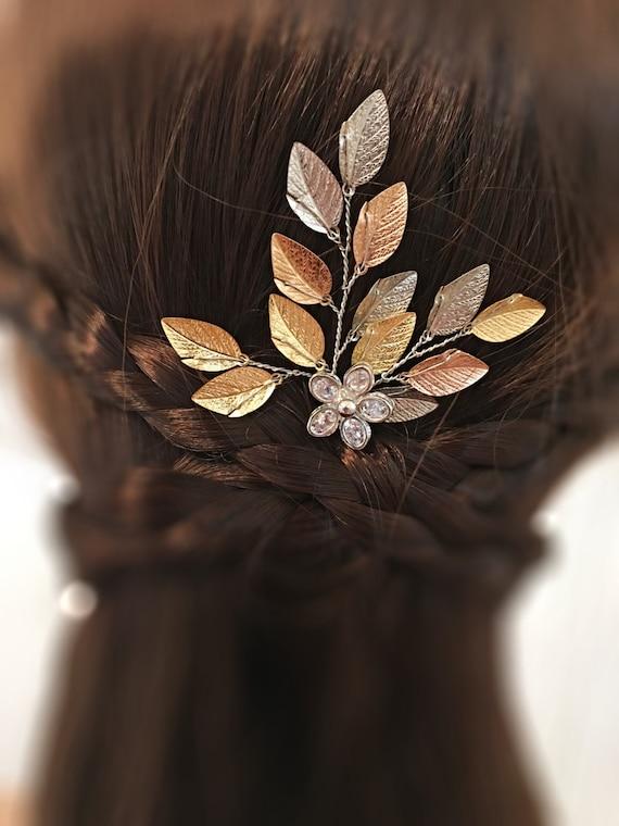 mariage cheveux broche feuille pingle cheveux de mari e. Black Bedroom Furniture Sets. Home Design Ideas