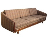 RESTORED Adrian Pearsall 1960s Craft Associates cloud vintage sofa couch davenport long mid century mid-century modern living room