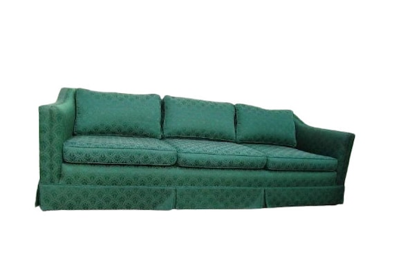 Rare Art Deco 1940s Sofa Couch, Difference Between A Couch Sofa And Davenport