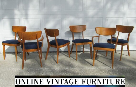 image 0 - 6 Heywood Wakefield 1950s Chairs Vintage Mid Century Etsy