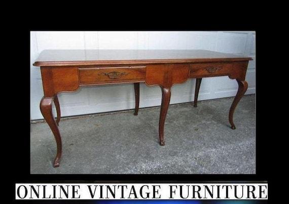image 0 - 1980s Baker Furniture Desk Or Table Vintage Colonial Federal Etsy