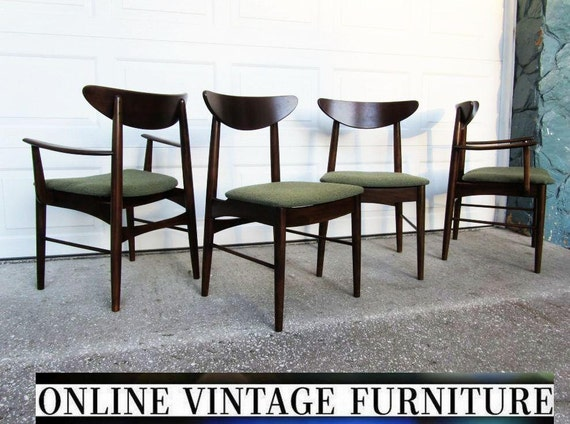 Attirant 4 RESTORED 1950s Chairs By Stanley Furniture Vintage Mid | Etsy