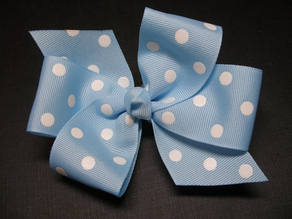 1 Piece Boutique Toddler Baby Polka Dot Grosgrain Hair Bow Girls Hair Pins Clips