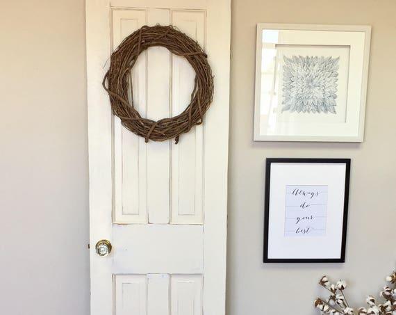 White Interior Wood Door - Fixer Upper Decor - Distressed Door - Bedroom Door - Restore Home - Modern Farmhouse -