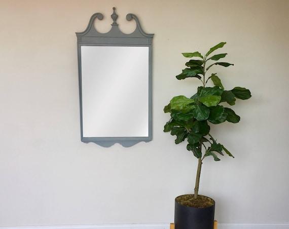 Antique Wood Mirror - Federal Style - Ornate Mirror - Distressed Wood Mirror - Tall Wall Mirror - Framed Bathroom Mirror - Fixer Upper Decor