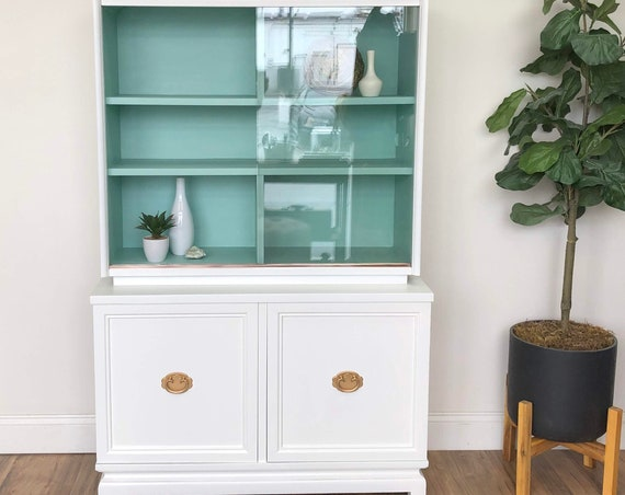 Small Mid Century Modern China Cabinet