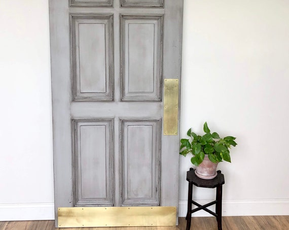 Gray Wooden Door - Industrial Chic