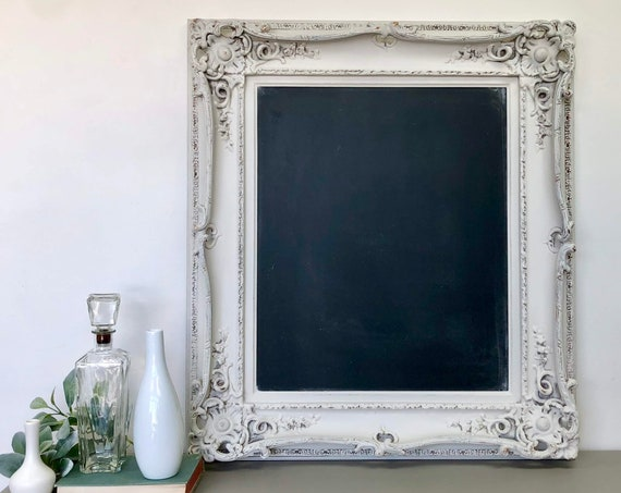 Large Ornate Framed Chalkboard - Dining Room Sign - Kitchen Chalkboard - Wedding Chalkboard Foyer Decor