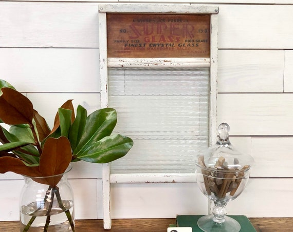 Vintage Washboard - Laundry Room Decor - Distressed Home Decor