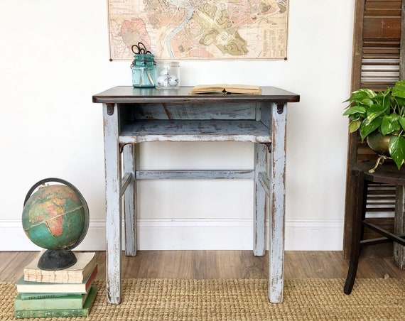 Vintage Child's School Desk - Distressed Furniture