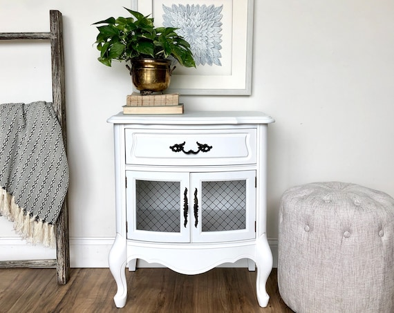 White Nightstand - French Provincial Furniture