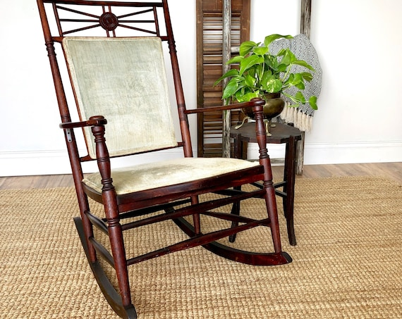 Wooden Rocker - Antique Accent Chair