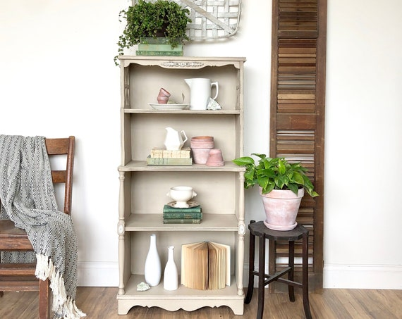 Small Antique Bookcase - Distressed Furniture