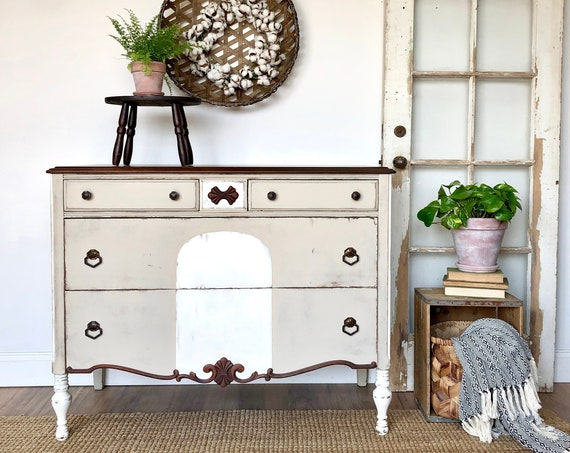 Antique Vanity Dresser - Shabby Chic Furniture