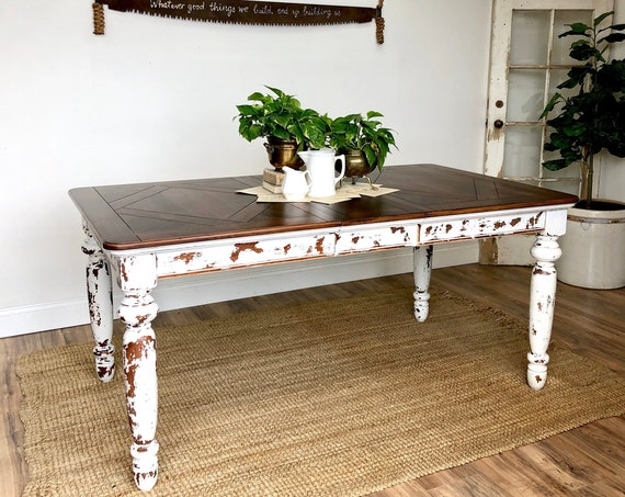 Rustic Farm Table - Distressed Furniture