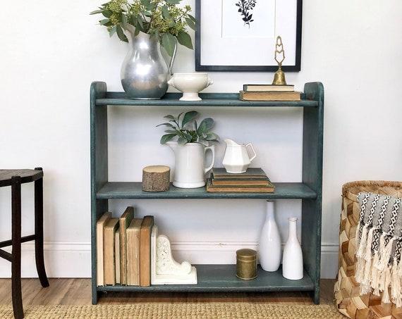Small Blue Bookshelf - Farmhouse Furniture