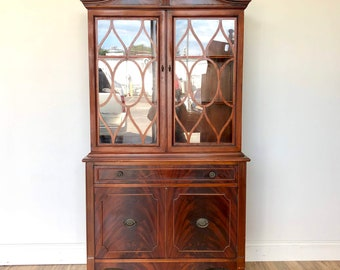 Antique China Hutch >> Antique China Cabinet Etsy