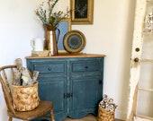 Corner Kitchen Cabinet - Rustic Farmhouse Furniture - Corner Bathroom Cabinet - New Homeowner Gift