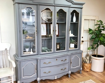 Ordinaire French Provincial China Cabinet   Shabby Chic Furniture
