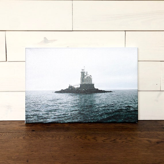 Lighthouse Print on Stretched Canvas - Beach Artwork