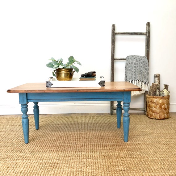 Blue Coffee Table - French Farmhouse Furniture