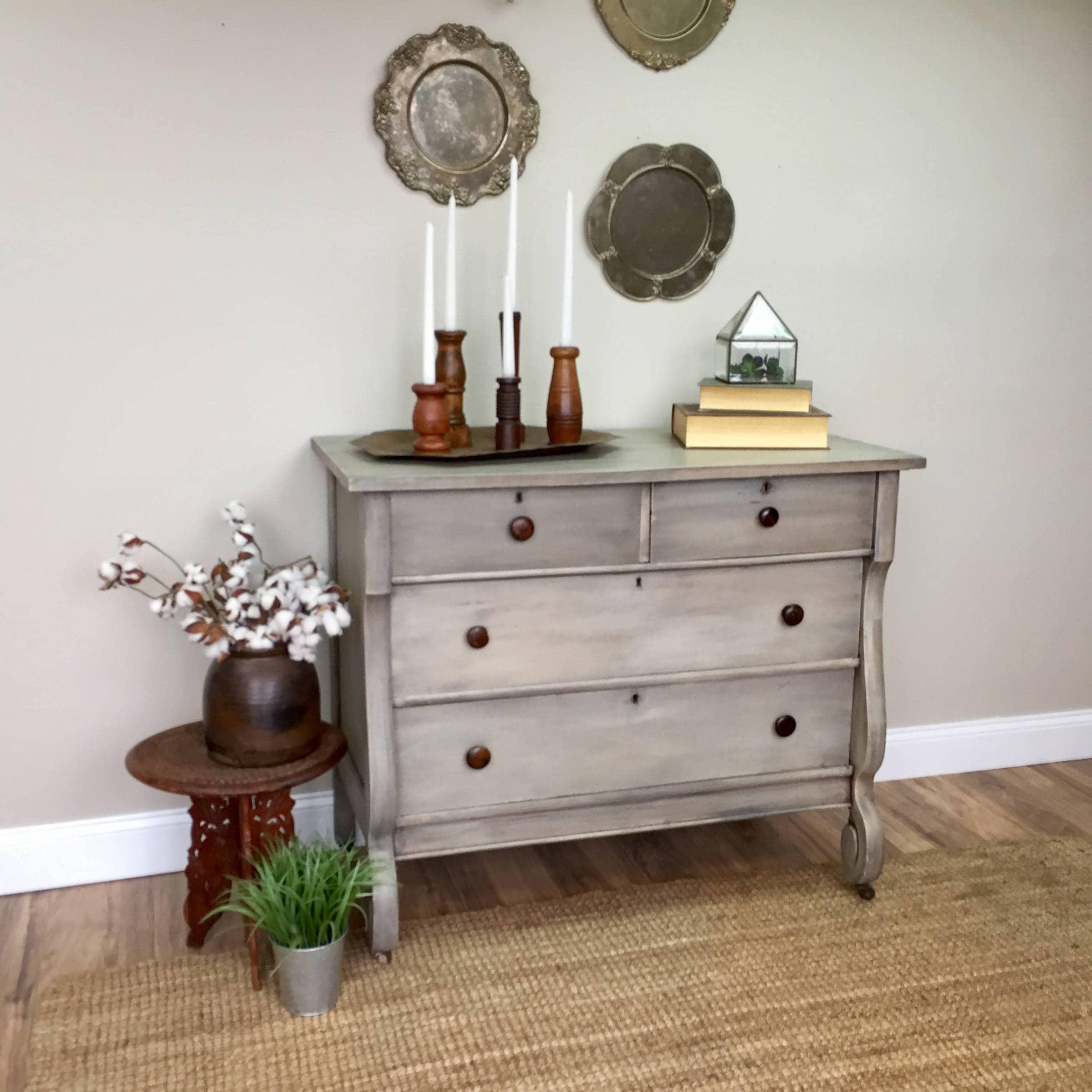 Antique Dresser American Empire Furniture Vintage Dresser For
