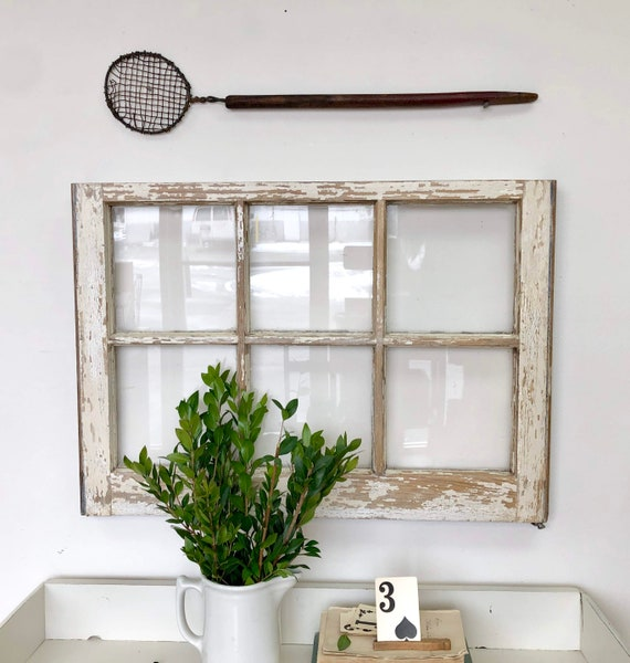 Rustic Window Frame Wall Decor - Fixer Upper Style Decor