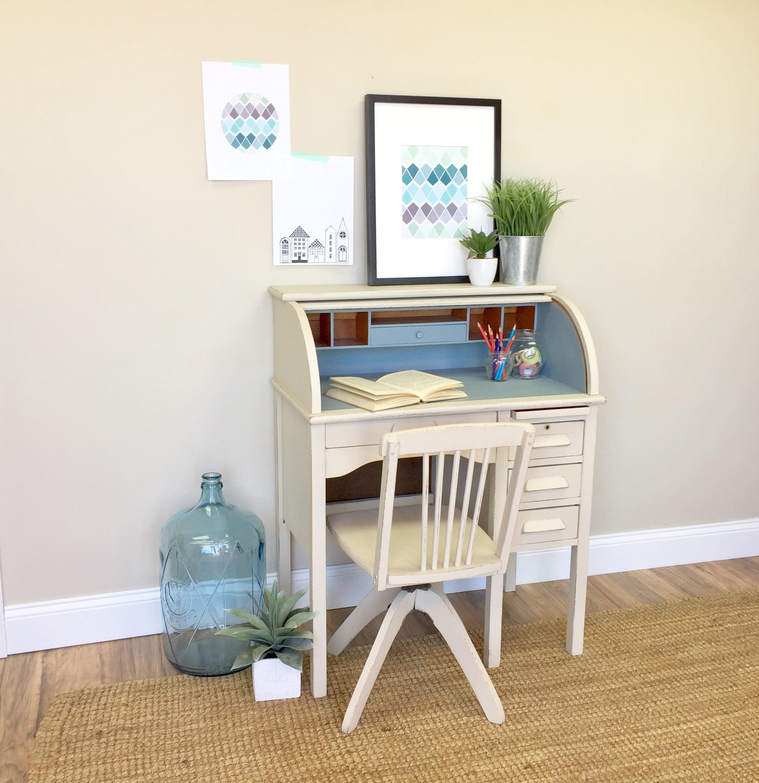 Kids Desk and Chair Set - Kids Room Furniture - Small Wooden Desk - Small Kids Desk - Oak Desk - Small Childrens Desk Antique Roll Top Desk & Kids Desk and Chair Set - Kids Room Furniture - Small Wooden Desk ...