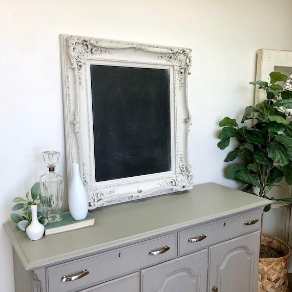 Large Ornate Framed Chalkboard - Dining Room Sign - Kitchen Chalkboard - Wedding Chalkboard Foyer Decor