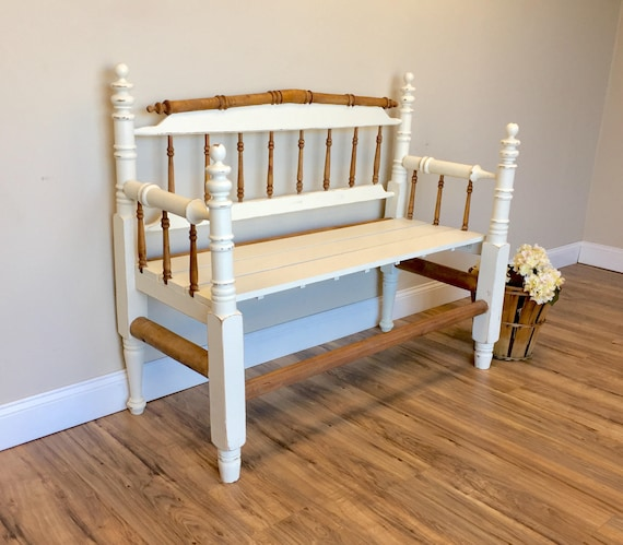 Incredible White Antique Entryway Bench Primitive Wooden Spindle Furniture Pdpeps Interior Chair Design Pdpepsorg