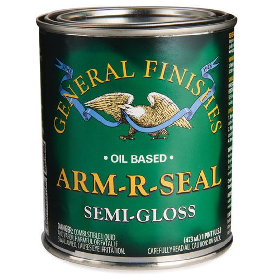Oil Base Polyurethane General Finishes Arm R Seal Topcoat - Clear Wood Finish