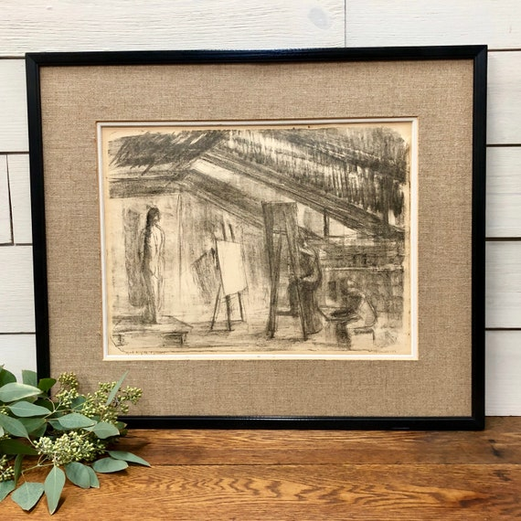Pencil Sketch Art - Vintage Wall Art