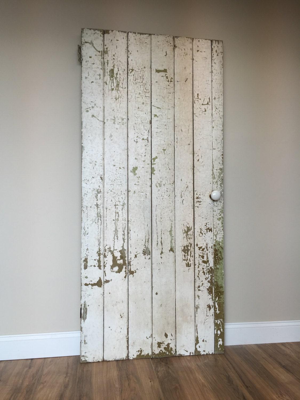 Farmhouse Board And Batten Door   Rustic Wooden Door   Primitive Antique  Door   Barn Wood Door   Fixer Upper Decor