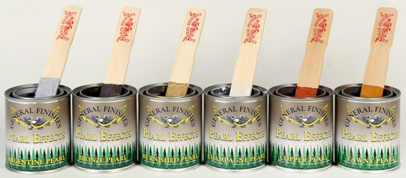 Pearlescent Paint - General Finishes - Pearl Paint - Metallic Paints - Refinish Furniture - Paint for Furniture