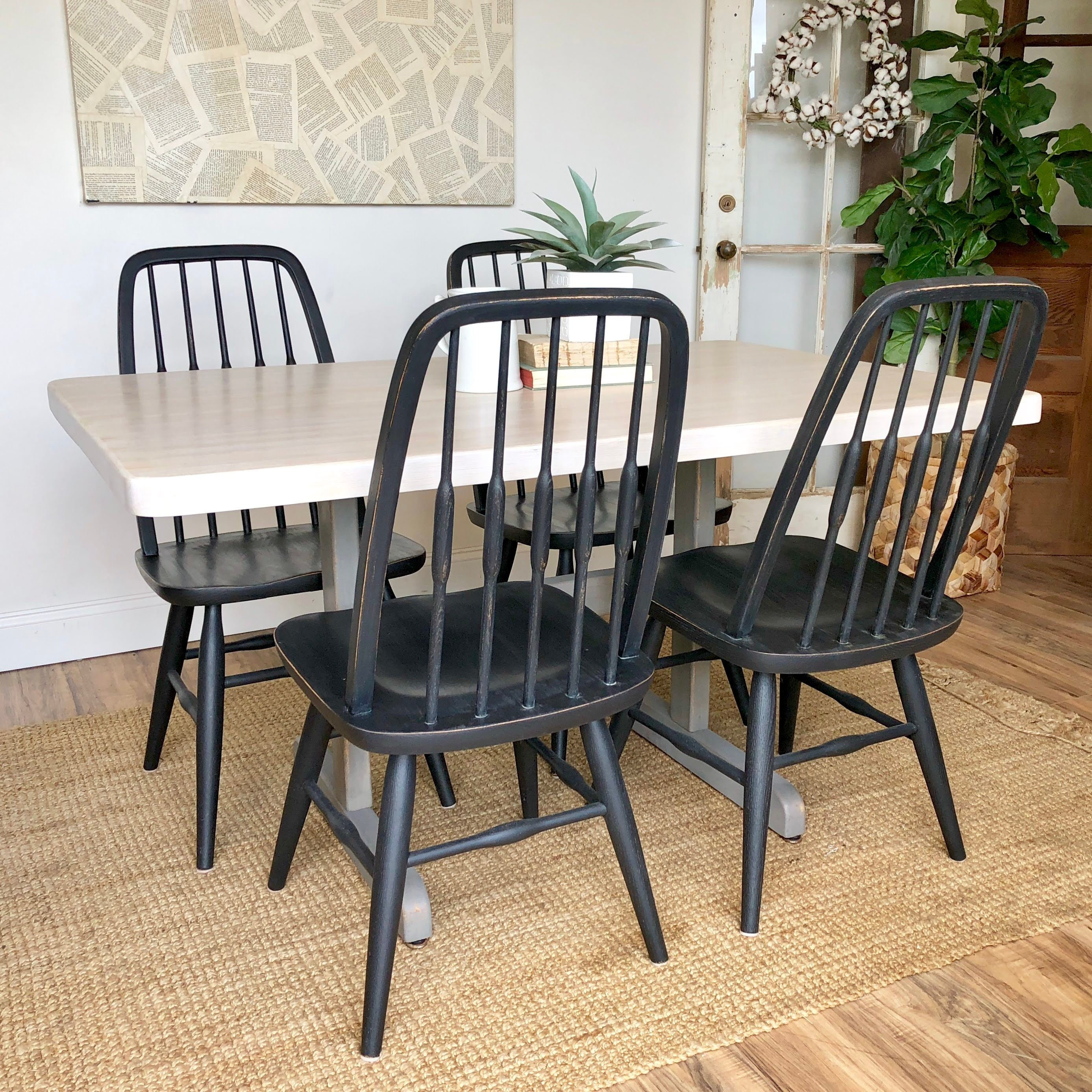 butcher block table and chairs country furniture trestle dining rh vintageroomdecor com butcher block table and chairs Butcher Block Kitchen Table and Chairs